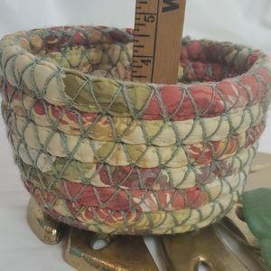 Upcycled Handmade Boho Basket